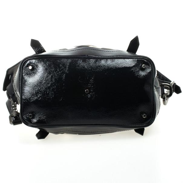 Burberry Black Beat Check Nylon Lowry Tote