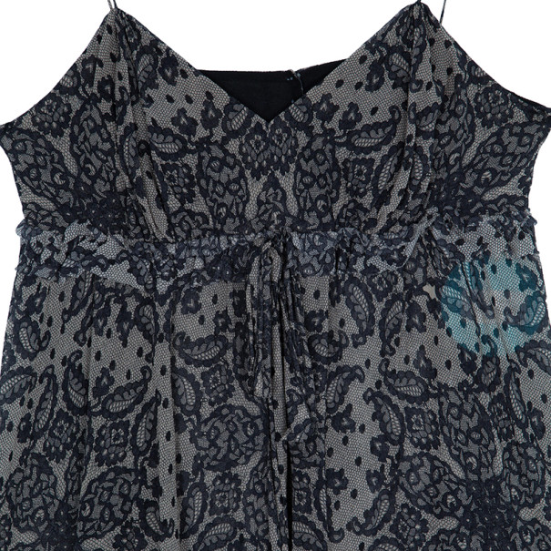 Dolce and Gabbana Lace Print Sleeveless Top M