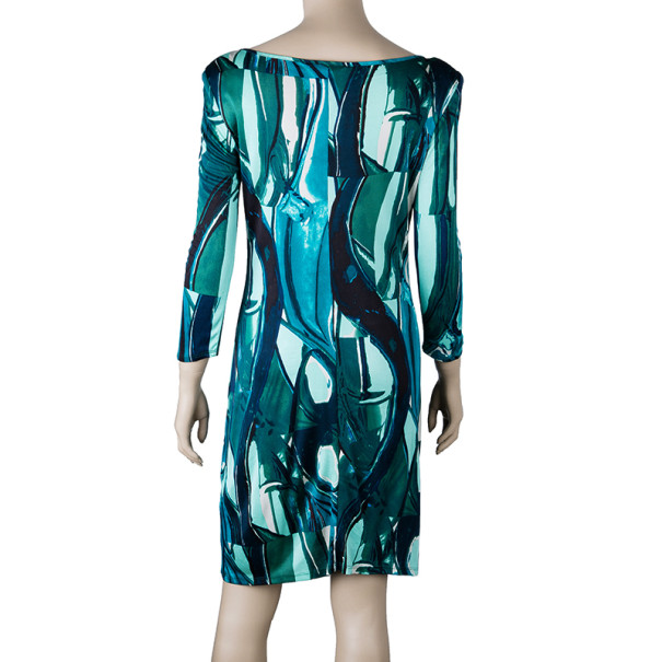 Catherine Malandrino Printed Long Sleeve Dress M