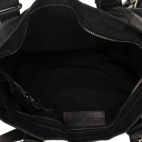 Balenciaga Black Leather Giant 12 City Bag