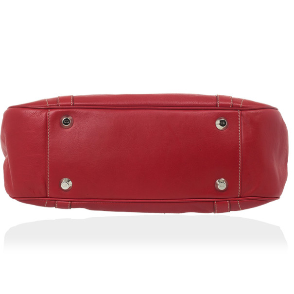 Christian Dior Red Leather Satchel