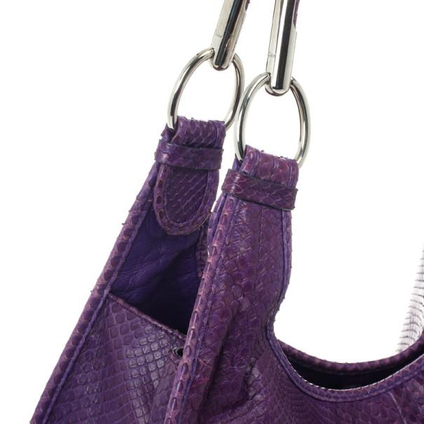 Christian Dior Purple Python Medium 61 Hobo