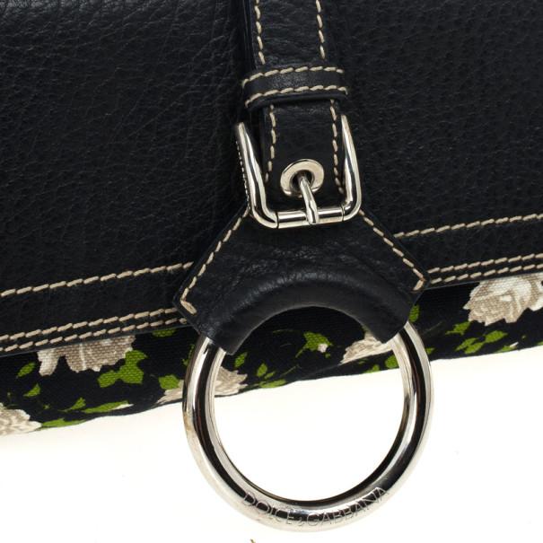 Dolce and Gabbana Floral Print Shoulder Bag