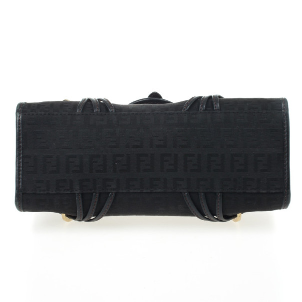 Fendi Black Zucchino Small Satchel
