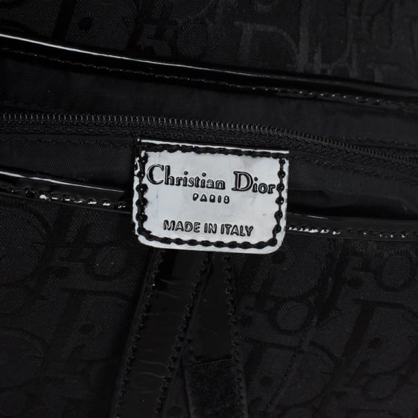Christian Dior Black Monogram Canvas Saddle Bag