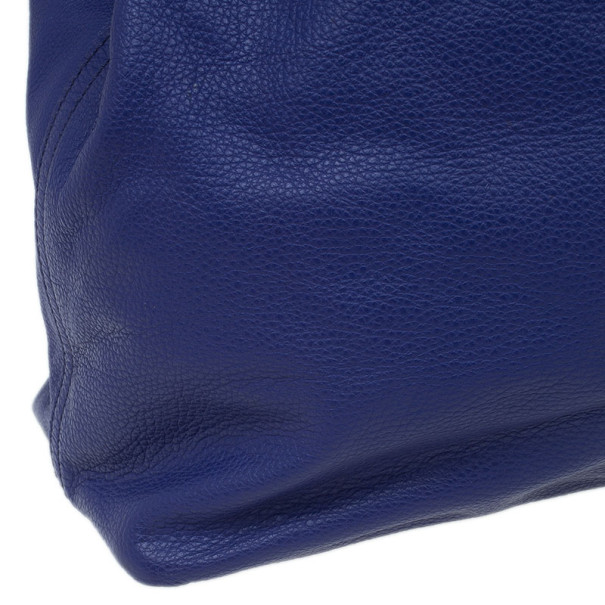 Saint Laurent Paris Purple Leather Convertible Shopper Tote