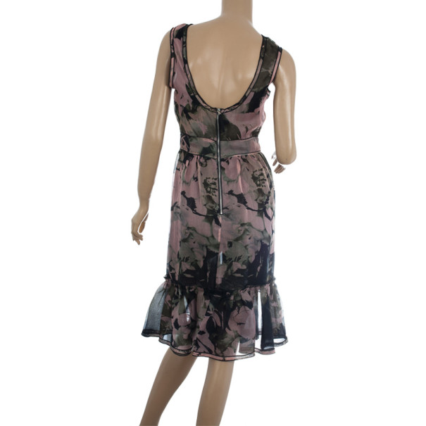 Dolce and Gabbana Silk Floral Print Dress S