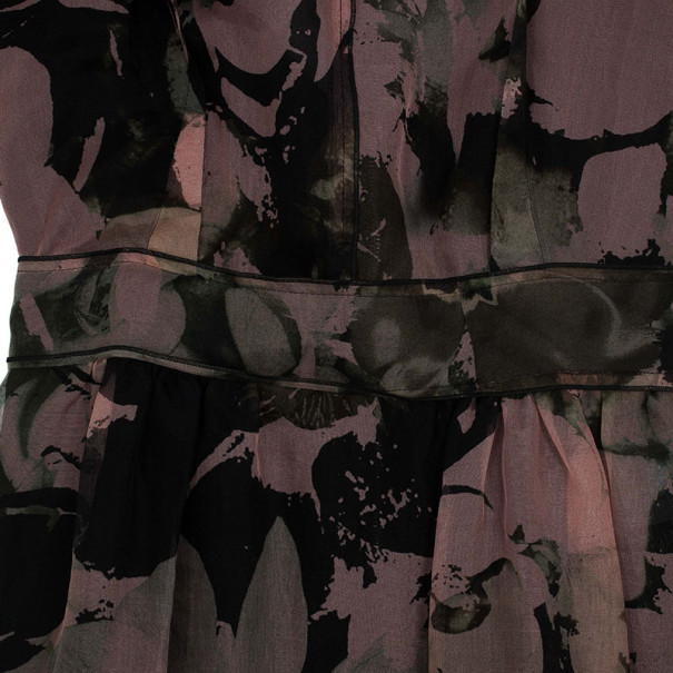 Dolce and Gabbana Silk Floral Print Dress S