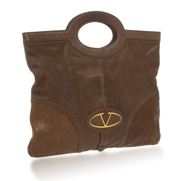 Valentino Vintage Foldover Oversized Clutch