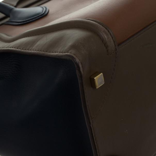 Celine Tri-Color Mini Luggage Tote