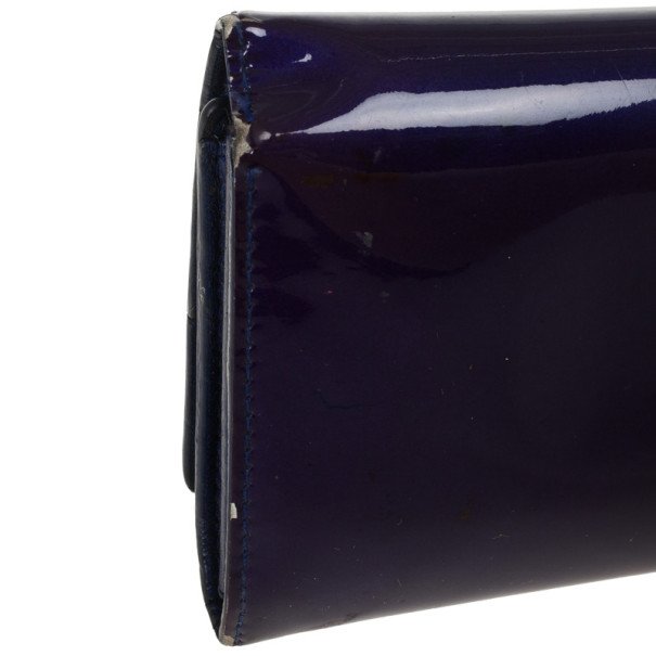 Miu Miu Purple Patent Continental Wallet