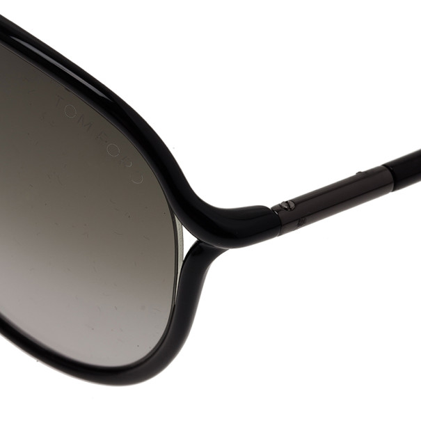 Tom Ford Black Cross Detail Maximillion Mens Aviators