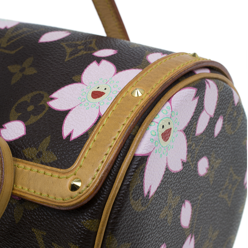 Louis Vuitton Monogram Canvas Limited Edition Cherry Blossom Papillon Bag