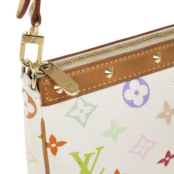 Louis Vuitton White Multicolore Pochette