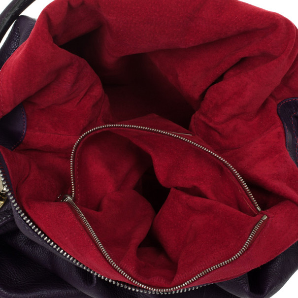 Marc Jacobs Purple Leather Large Multi-pocket Bag
