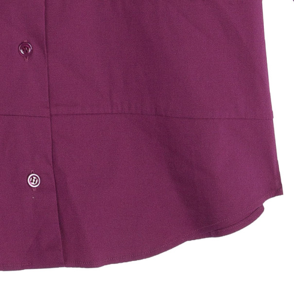 Red Valentino Fuschia Short Sleeve Shirt M