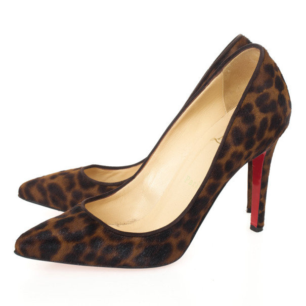 Christian Louboutin Leopard Pony Hair Pigalle Pumps Size 37