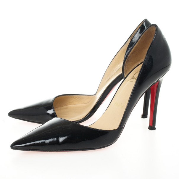 Christian Louboutin Black Patent New Helmut D'orsay Pumps Size 36.5