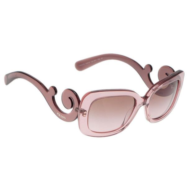 Prada Purple Baroque Rectangle Sunglasses