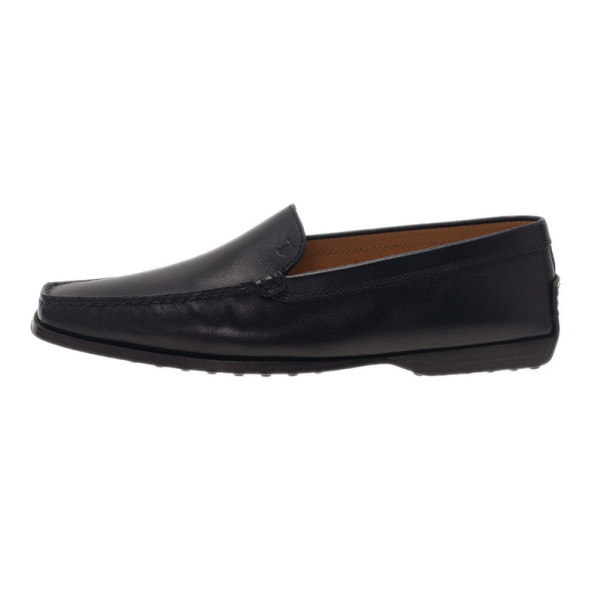 Tod's Black Leather Loafers Size 39.5