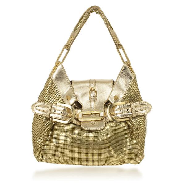 Jimmy Choo Gold Chain Mail Tulita Bag