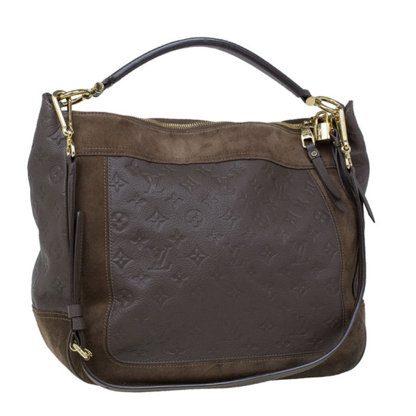 Louis Vuitton Monogram Empreinte Taupe Leather Ombre Audacieuse Hobo