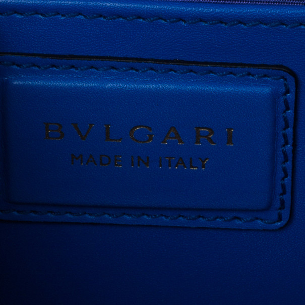 Bvlgari Blue Calfskin Leather Small Serpenti Forever Shoulder Bag