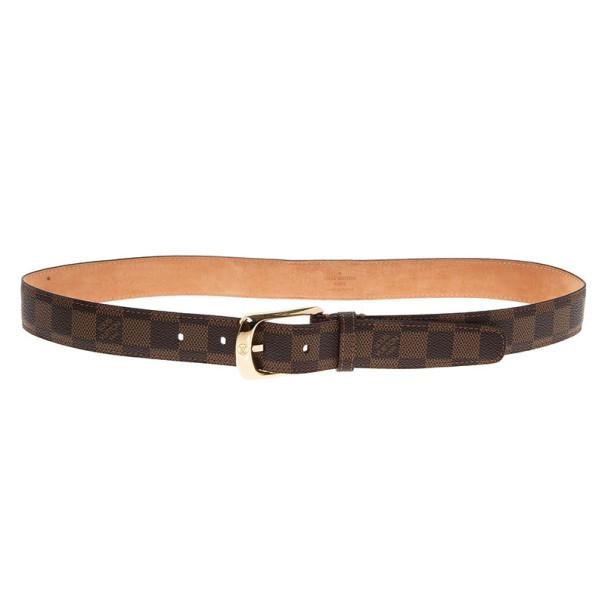 Louis Vuitton Damier Ebene Ellipse Belt 85CM