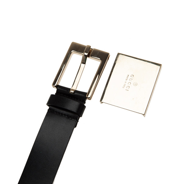 Gucci Guccissima Canvas Bow Buckle Belt 85CM