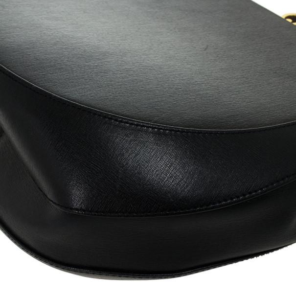Salvatore Ferragamo Vintage Black Leather Shoulder Bag