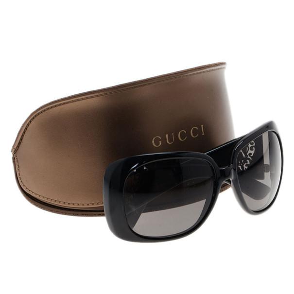 Gucci Black Heart Crest Sunglasses