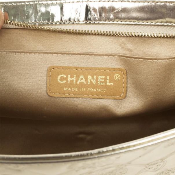 Chanel Gold Leather 'Lucky Charms' Pochette