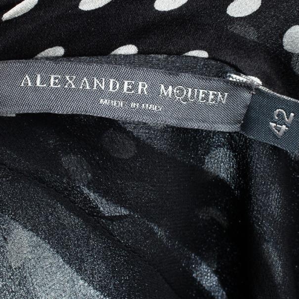 Alexander McQueen Polka Dot Halterneck Top M