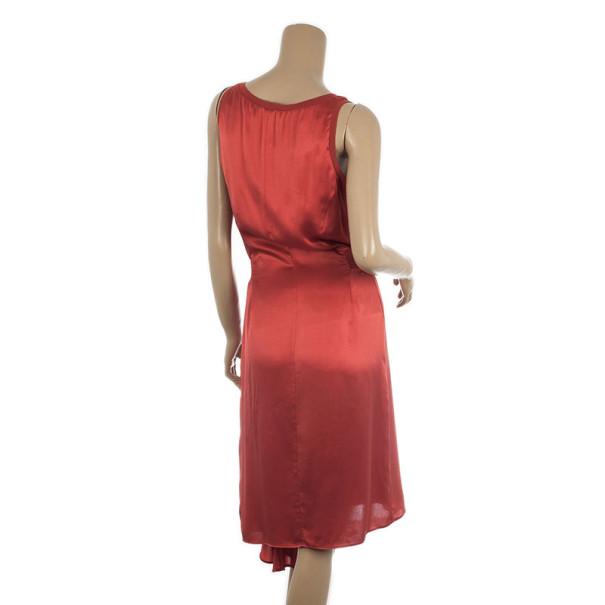 Yves Saint Laurent Ruched Evening Silk Dress M