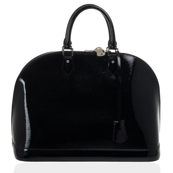 Louis Vuitton Black Epi Alma MM