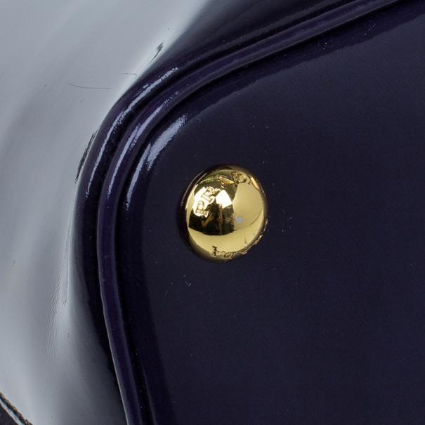 Prada Purple Medium Patent Lux Double Zip Tote