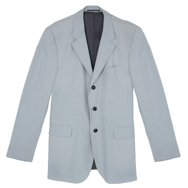 Fendi Giacca Kid Mohair Stretch Cream Blazer Jacket EU54