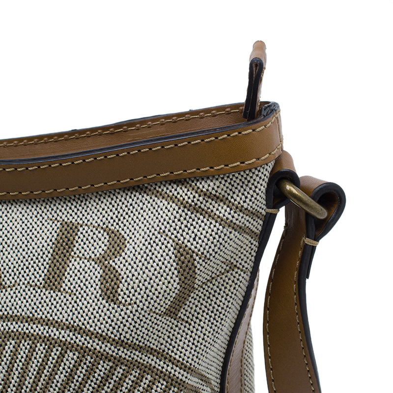 Burberry Brown Canvas Crossbody Bag