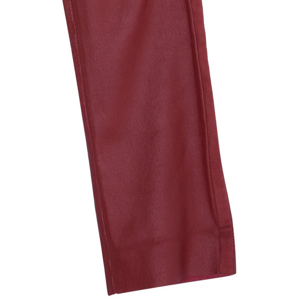 Isabel Marant Red Dana Leather Trousers M
