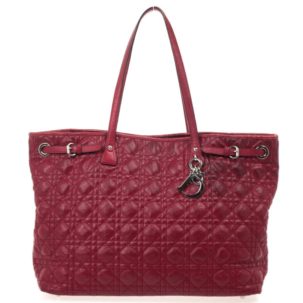 2916247854e ... nextprev. prevnext  wholesale outlet 97160 9dbce ... Christian Dior  Cannage Quilted Coated Canvas Panarea Large Tote ...