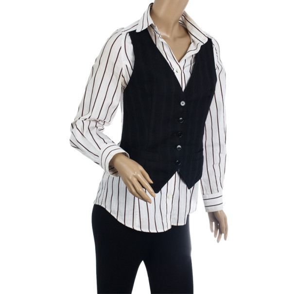 Dolce and Gabbana Fergie Limited Edition Striped Shirt S