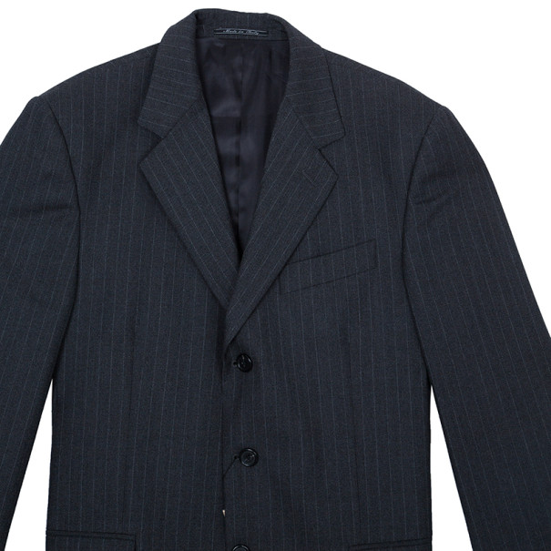 Fendi Uomo Pinstriped Grey Suit EU52