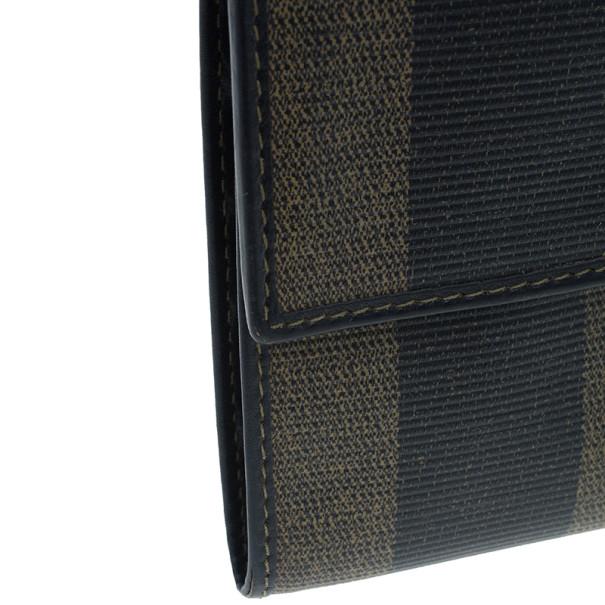 Fendi Pequin Flap Compact Wallet