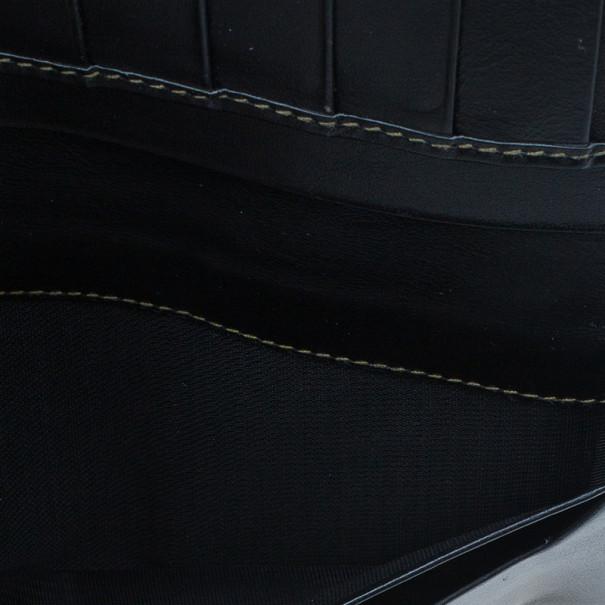 Fendi Black Striped Pequin Men Bifold Wallet