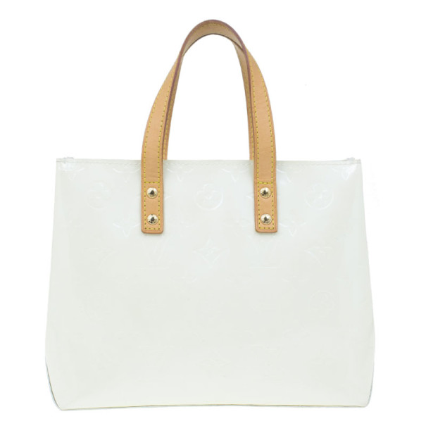 Louis Vuitton White Monogram Vernis Reade PM