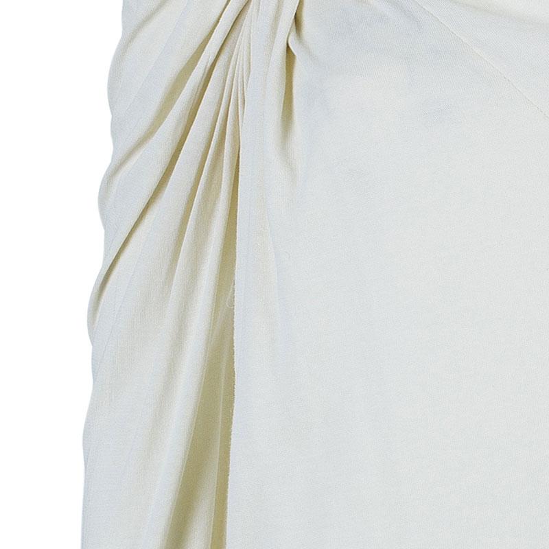 Lanvin Beige Knot Detail Top M