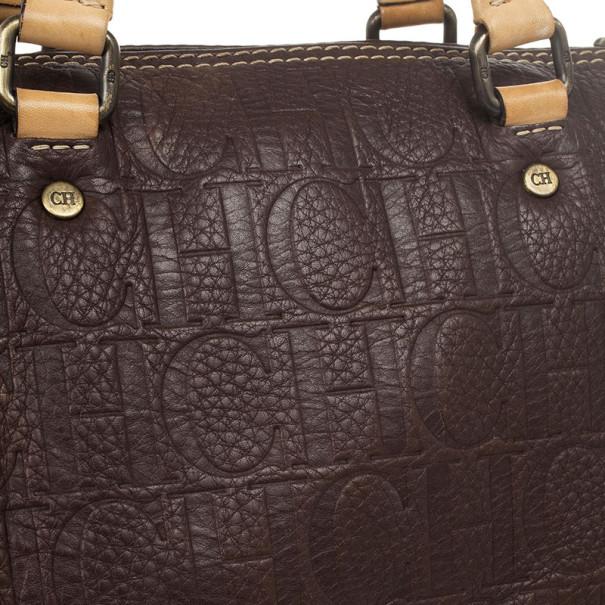 Carolina Herrera Brown Andy Boston Bag