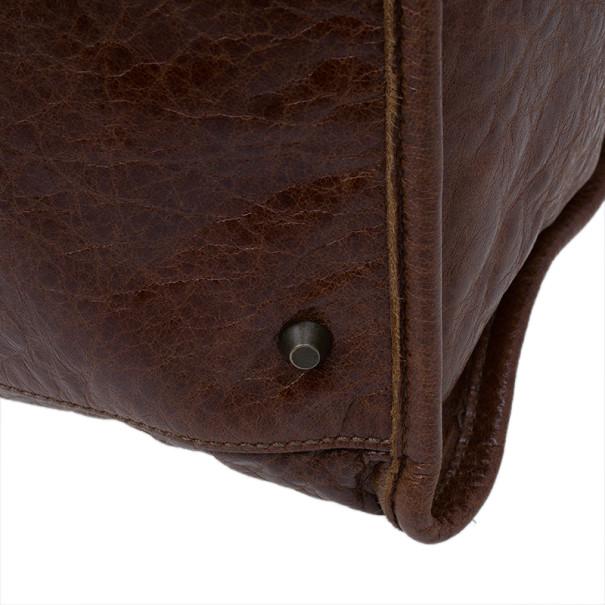 Balenciaga Brown Leather Giant 12 Tote