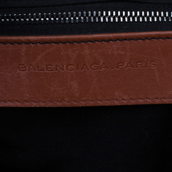 Balenciaga Red Chevre Perforated Hook Tote