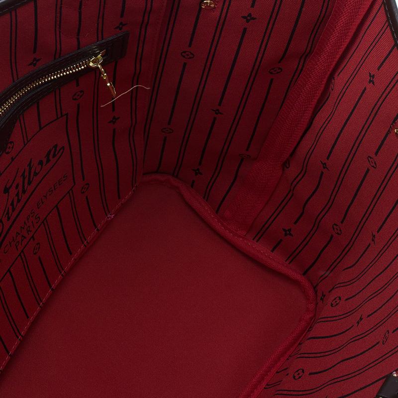 Louis Vuitton Damier Ebene Coated Canvas Neverfull MM